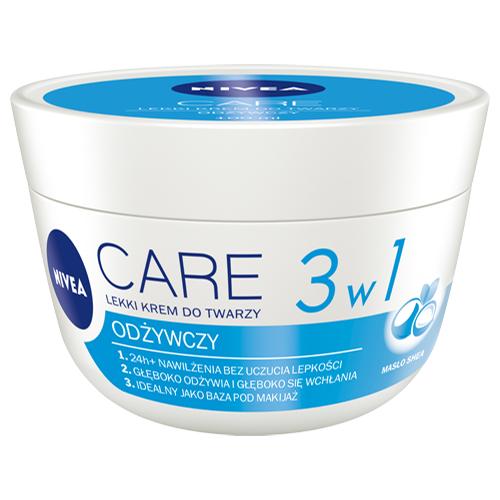 Lekki odżywczy krem do twarzy NIVEA Care 3w1, 100 ml