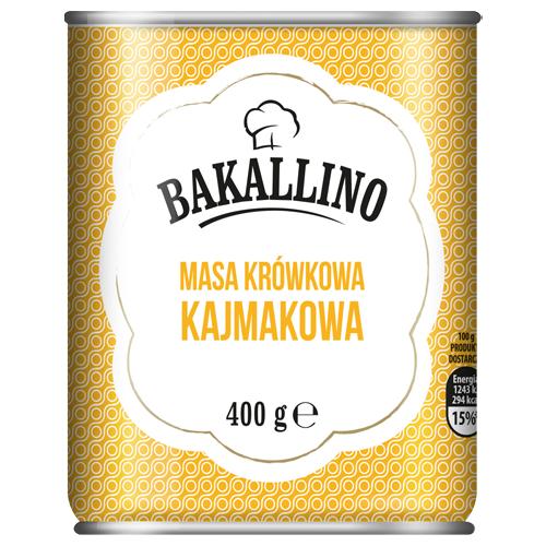 Masa krówkowa Bakallino, 400 g: kajmakowa