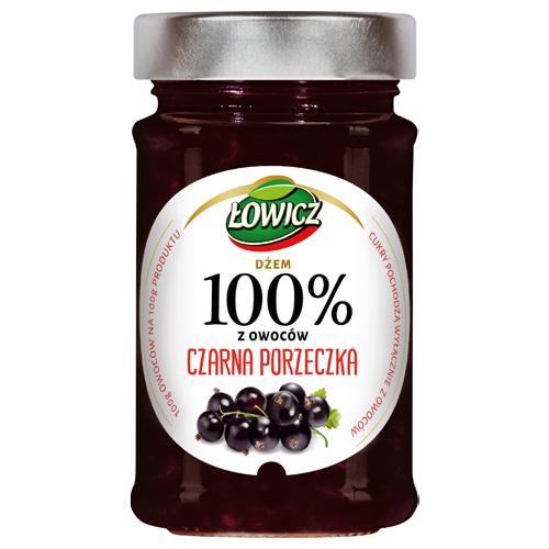 Dżem 100% Łowicz czarna porzeczka, 220 g