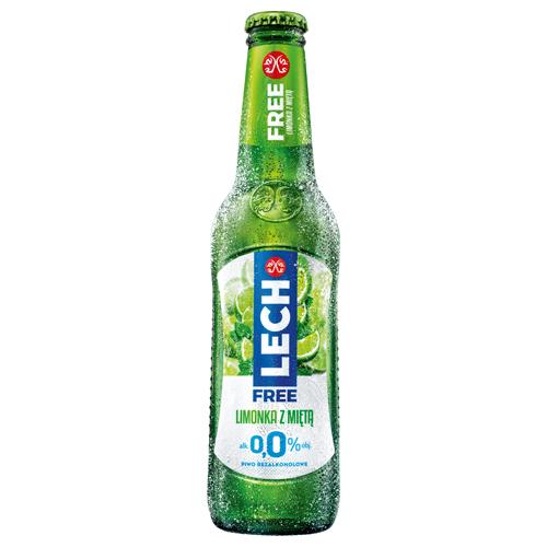 Piwo bezalkoholowe Lech Free limonka z miętą, 330 ml