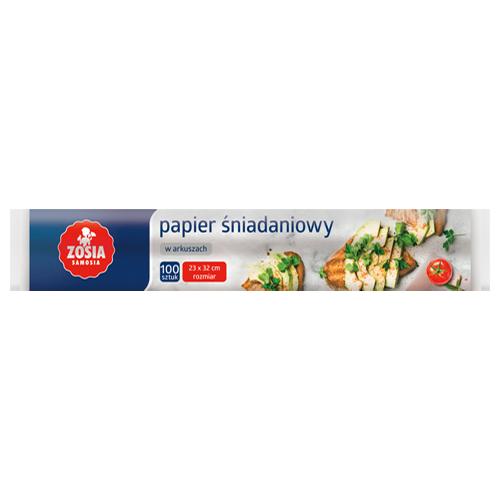 Papier śniadaniowy Zosia Samosia, 100 szt.