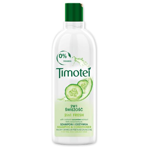 Szampon do włosów Timotei, 400 ml: 2w1 świeżość