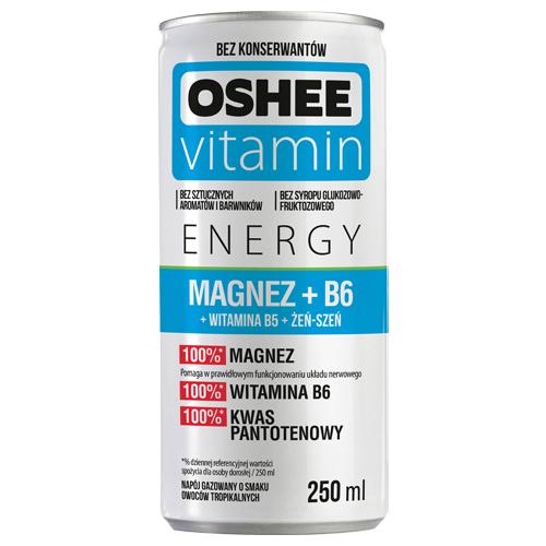 Napój gazowany Oshee Vitamin Energy Magnesium 250 ml