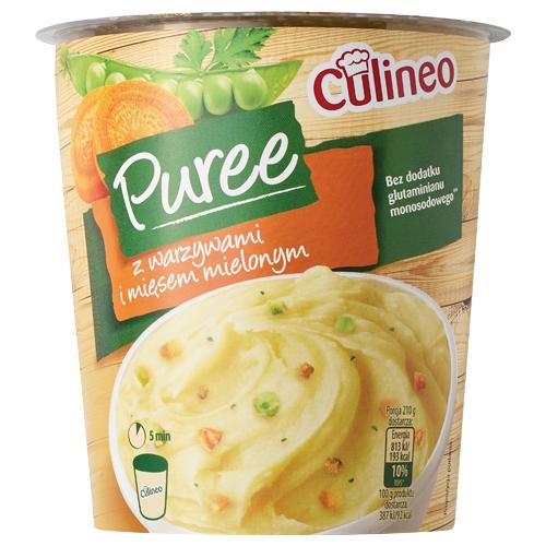 Puree instant Culineo, 50-51 g: z warzywami i mięsem mielonym