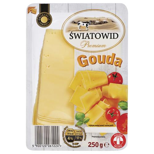 Ser w plastrach Światowid Premium, 250 g: gouda