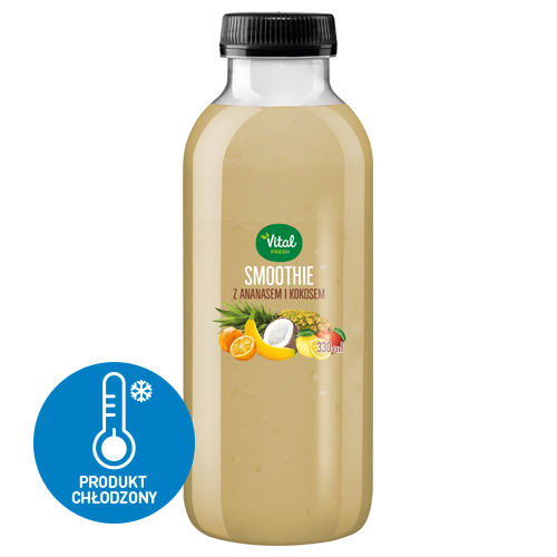 Smoothie Vital Fresh z ananasem i kokosem, 330 ml