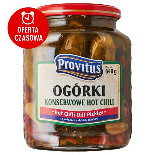 Ogórki konserwowe Provitus, 640/300 g: hot chili